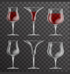 Glass drink cup icons template design vector