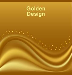 goldensatin waves smooth silk wavy abstract vector image