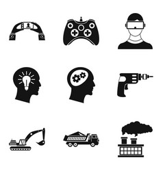 Human ability icons set simple style vector
