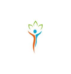 human character logo sign vector image