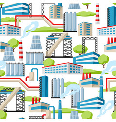 industrial factory seamless pattern vector image