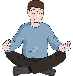 Meditation man vector image
