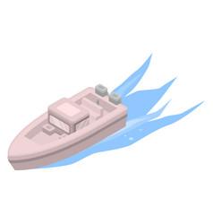 motor boat icon isometric style vector image
