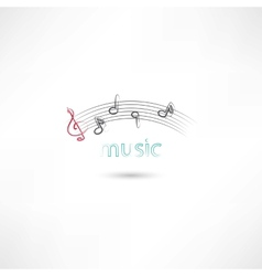 Music lines vector image