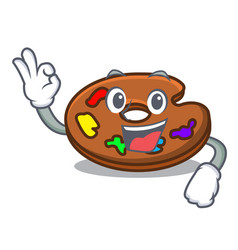 okay palette character cartoon style vector image