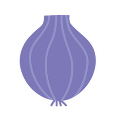 onion organic vegetable isolated icon design white vector image