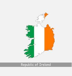republic ireland map flag vector image