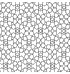 seamless black and white hexagonal arabic muslim vector image
