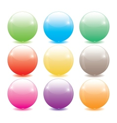 set of colored glass balls vector image