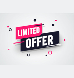 Special limited offer sale banner discount tag vector