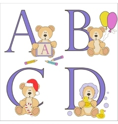Teddy bear alphabet vector image
