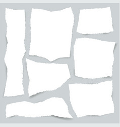 torn edges paper set vector image
