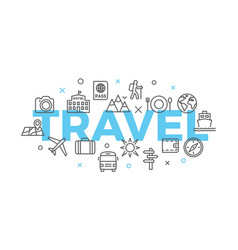 Travel concept with icons and signs vector