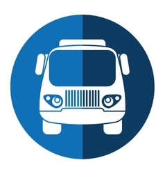 truck small cargo transportation blue circle vector image