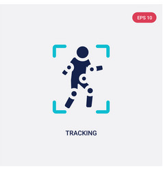 Two color tracking icon from augmented reality vector