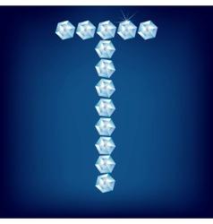 vector diamond alphabet lette t vector image