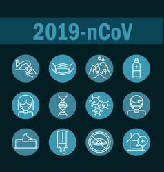 virus covid19 19 pandemic respiratory pneumonia vector image