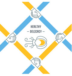 Website banner and landing page healthy vector