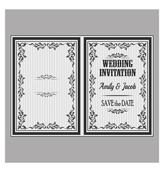 wedding invitation v vector image