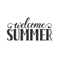 Welcome summer wording vector