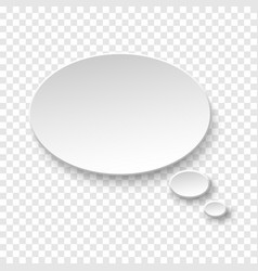 white blank paper speech bubble vector image