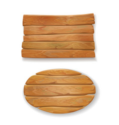 Wooden old board vector