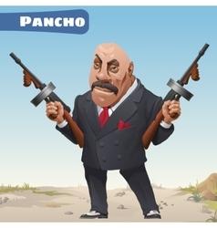 Fictional cartoon character - bandit pancho vector
