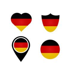 german flag symbols in heart shield circle vector image