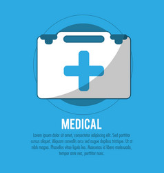 kit first aid medical care vector image