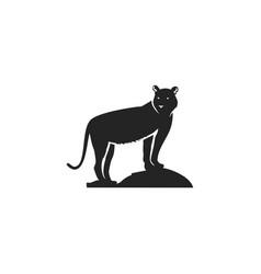 tiger black icon silhouette symbol of tiger vector image