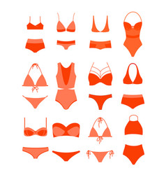 woman summer bikini set vector image vector image