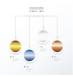circle hanging concept gold color style vector image vector image