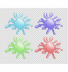 Four color splash on transparent background vector