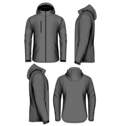 men softshell jacket vector image