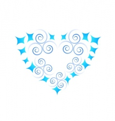 abstract heart icon vector image