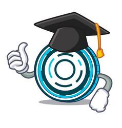 Graduation aion coin character cartoon vector