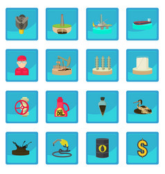 Oil and energy industry icon blue app vector
