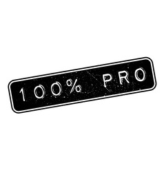 100 percent pro rubber stamp vector