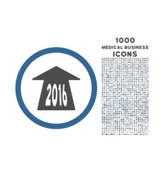 2016 Future Road Rounded Icon with 1000 Bonus vector image