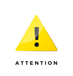 alert icon attention symbol warning sticker vector image