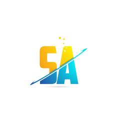 Alphabet letter sa s a combination for logo vector