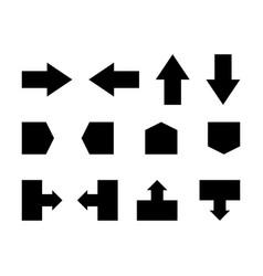 arrows set basic arrow icon isolated on white vector image