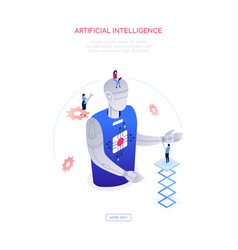 artificial intelligence - modern isometric vector image