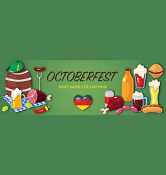 Banner for october beer festival vector