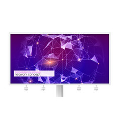 billboard with pattern of plexus concept of vector image
