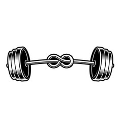 black and white a bented barbell vector image