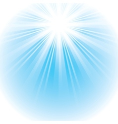 Bright shining sun vector