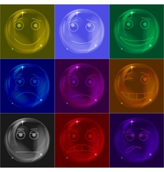 bubbles smileys colorful vector image