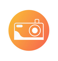 Camera icon design for showing that place can vector