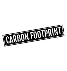 Carbon footprint rubber stamp vector